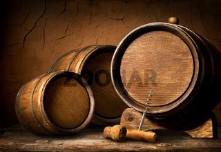 Barrels and corkscrew