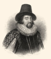 Francis Bacon or Baron Baco of Verulam, 1561 - 1626, an English philosopher, statesman and scientist