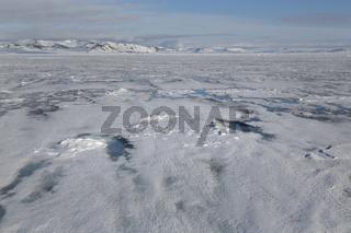 Eisschollen, Packeisgrenze, Arktischer Ozean, Insel Spitzbergen, Inselgruppe Spitzbergen, Svalbard und Jan Mayen, Norwegen, Europa