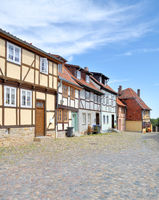 historic Old Town of Quedlinburg in Harz,Germany