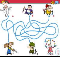 maze task activity for children