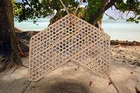 traditionelle Fischreuse,   Insel La Digue, Seychellen