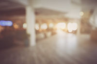 Blurred Hotel Lobby with Vintage Style Filter