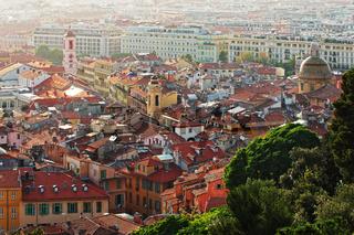 Aussicht auf die Altstadt von Nizza - Côte d'Azur