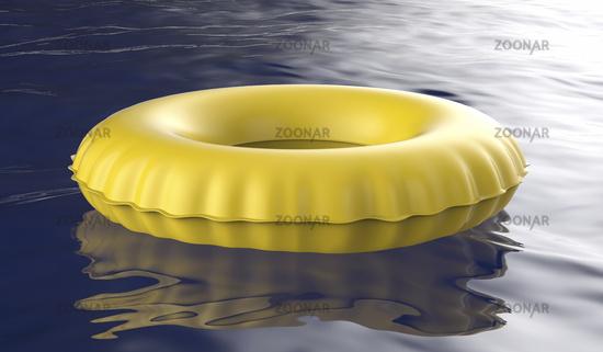 Yellow swim ring