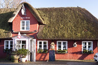 Thatched Roof House on Amrum in Germany