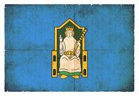 Grunge flag of Leinster (Ireland)
