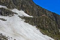 Berghütte Cabane de l'A Neuve auf einem Felssporn