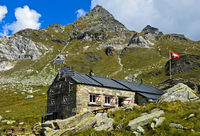 Mountain refuge Binntalhütte of the Swiss Alpine Club, SAC, Binntal, Valais, Switzerland