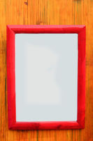 blank wooden frame on bamboo
