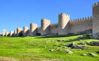 City walls of Avila