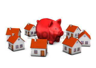 Red Piggy Banks Homes