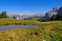 Sellajoch - Sella pass in Dolomites