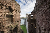 The ruins of Tantallon castle