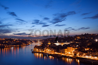 City of Porto in Portugal at Twilight