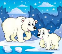 Polar bears theme image 4 - picture illustration.
