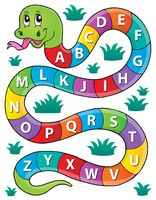 Snake with alphabet theme image 1 - picture illustration.