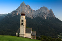 St. Valentin with Schlern in background, Seis, South Tyrol