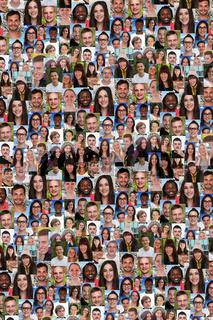 Hintergrund junge Menschen Gruppe soziale Netzwerke Flüchtlinge Ausländer