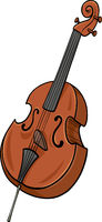 double bass cartoon clip art