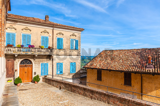 Colorful house in small italian town.
