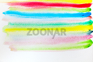 Colorful stripes watercolor paint on canvas. Super high resolution and quality background