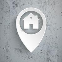 White Location Marker House Concrete