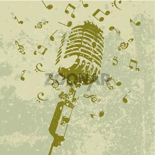 Retro a microphone