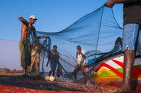 Fischer, Strand in Negombo, Sri Lanka, Asien