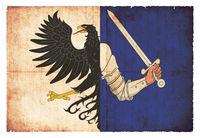 Grunge flag of Connacht (Ireland)
