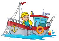 Fishing boat theme image 1 - picture illustration.