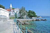 Promenade of Opatija,Istria,adriatic Sea,Croatia