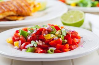 Low calorie salsa salad for hot summer