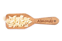 Mandelstifte - Almond slivers on shovel