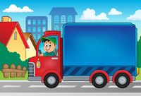 Delivery car theme image 3 - picture illustration.