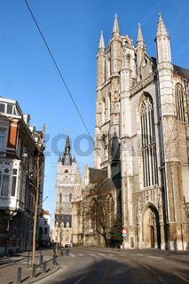 sankt baafskathedraal in gent, belgien