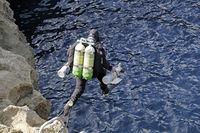 Technical Trimix Scuba diver, Gozo, Malta