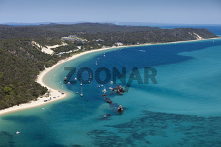 Tangalooma Wracks, Moreton Island, Australien