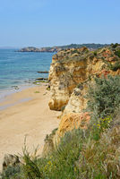 A view from top to the Praia da Rocha, Algarve