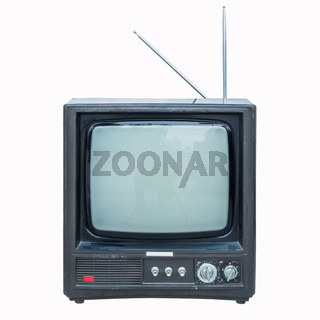 old black and white television