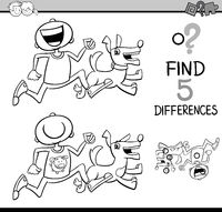 differences task coloring book