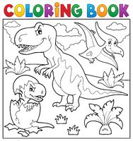 Coloring book dinosaur topic 9 - picture illustration.