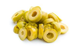 sliced green olives