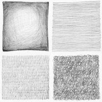 Abstract pencil scribbles background collection. Paper texture.