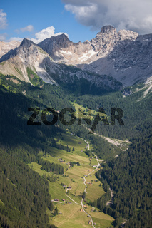 Alpine rocky mountains landscape