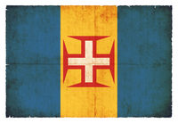 Grunge flag of Madeira