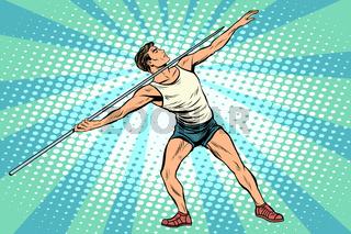 Javelin thrower athletics summer sports games