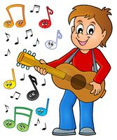 Boy guitar player theme image 2 - picture illustration.