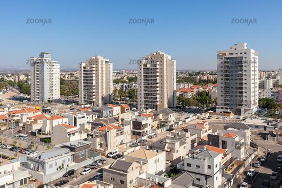Modern residential buildings in Israel.