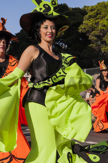 Carnival Tuesday parade, Mardi Gras in Tenerife.